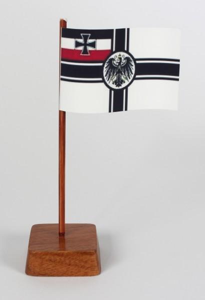Mini Tischflagge Kaiserliche Marine Höhe 13 cm Tischfähnchen