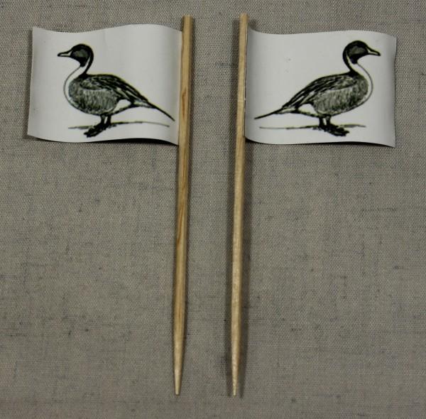 Party-Picker Flagge Ente Papierfähnchen in Spitzenqualität 50 Stück Beutel