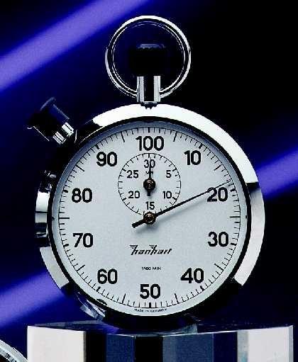 Mechanische analog Stoppuhr Hanhart 1/100 min, 30 min