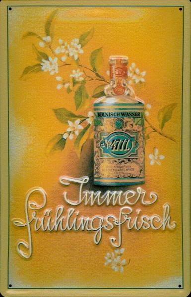 Blechschild 4711 Immer Frühlingsfrisch (1) Blüte Kosmetik kölnisch Wasser Schild Werbeschild Nostalg