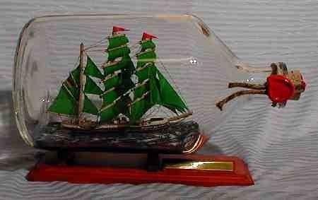 Alexander von Humboldt 2 Liter Apothekerflasche Buddelschiff Flaschenschiff