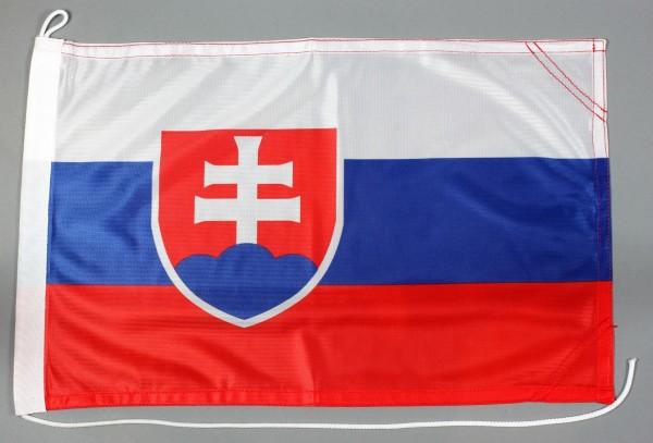 Bootsflagge Slowakei 30x45 cm Motorradflagge Bootsfahne