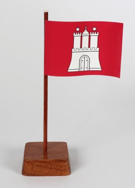 Mini Tischflagge Hamburg Höhe 13 cm Tischfähnchen