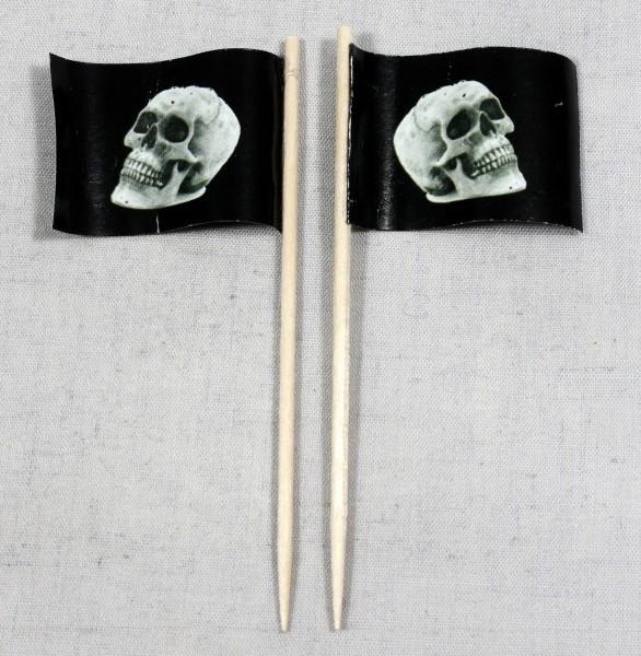 Party-Picker Flagge Halloween Totenkopf Papierfähnchen in Spitzenqualität 50 Stück Beutel