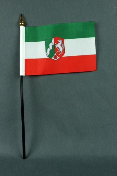 Kleine Tischflagge Nordrhein Westfalen NRW 10x15 cm optional mit Tischfähnchenständer