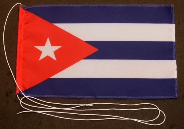 Tischflagge Kuba 25x15 cm optional mit Holz- oder Chromständer Tischfahne Tischfähnchen