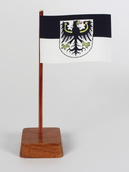 Mini Tischflagge Ostpreußen Höhe 13 cm Tischfähnchen