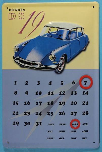 Blechschild Citroen DS 19 Magnet Kalender Nostalgieschild Schild Dauerkalender