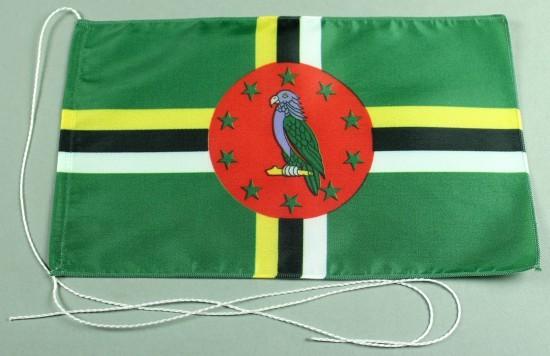 Tischflagge Dominica 25x15 cm optional mit Holz- oder Chromständer Tischfahne Tischfähnchen