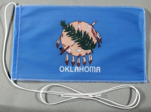 Tischflagge Oklahoma USA Bundesstaat US State 25x15 cm optional mit Holz- oder Chromständer Tischfah