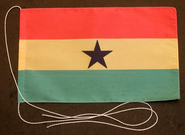 Tischflagge Ghana 25x15 cm optional mit Holz- oder Chromständer Tischfahne Tischfähnchen