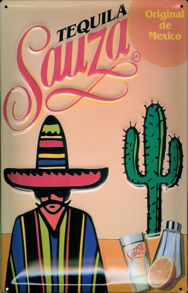 Blechschild Tequila Sauza Mexiko Kaktus Mexikaner Schild Werbeschild Nostalgieschild