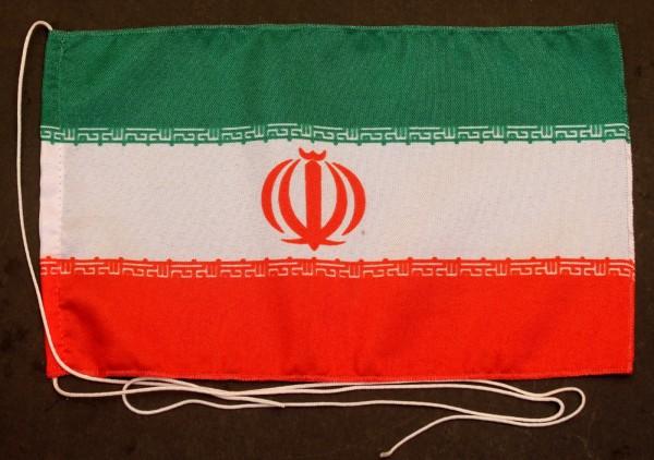 Tischflagge Iran 25x15 cm optional mit Holz- oder Chromständer Tischfahne Tischfähnchen