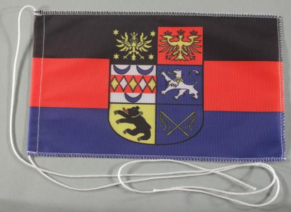 Tischflagge Ostfriesland Ost Friesland 25x15 cm optional mit Holz- oder Chromständer Tischfahne Tisc