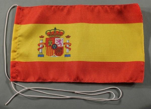 Tischflagge Spanien mit Wappen 25x15 cm optional mit Holz- oder Chromständer Tischfahne Tischfähnche