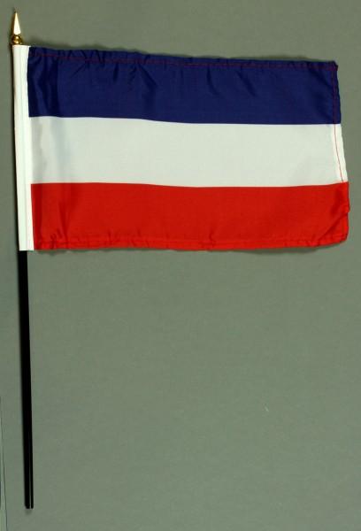 Tischflagge Jugoslawien 15x25 cm BASIC optional mit Tischflaggenständer
