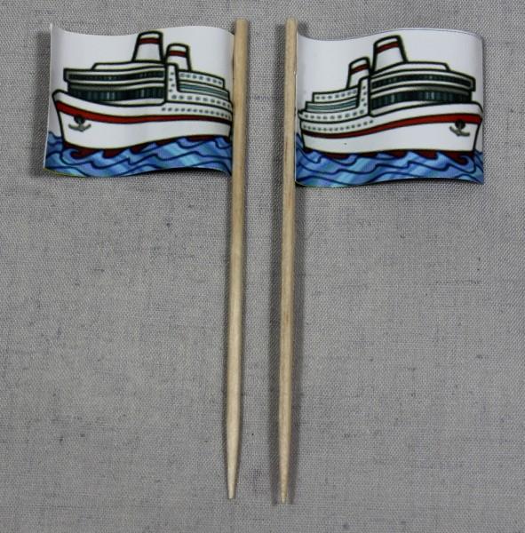 Party-Picker Flagge Schiff Papierfähnchen in Spitzenqualität 50 Stück Beutel