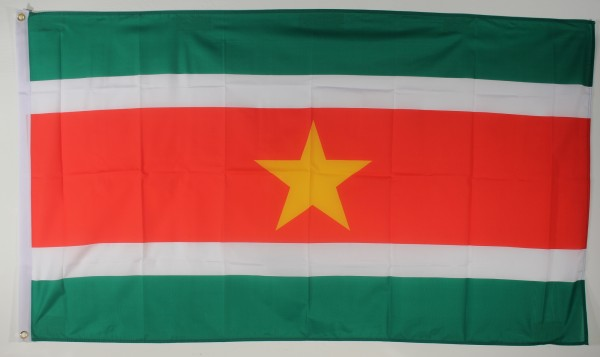 Flagge Fahne : Surinam Surinamflagge Nationalflagge Nationalfahne