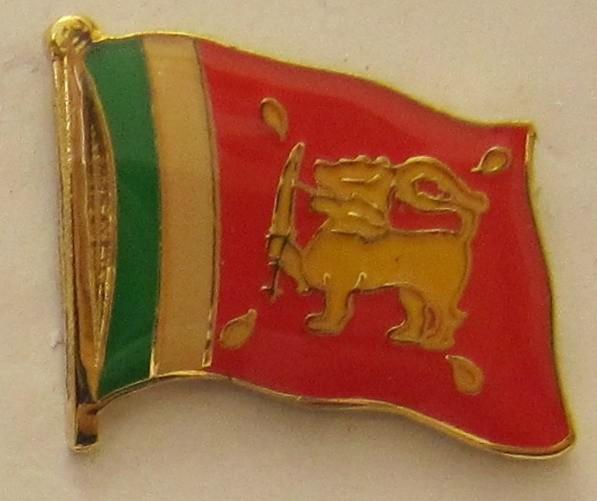 Sri Lanka Pin Anstecker Flagge Fahne Nationalflagge