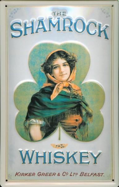 Blechschild Shamrock Whiskey Belfast Irland Schild Nostalgieschild