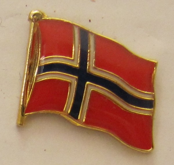 Pin Anstecker Flagge Fahne Norwegen Nationalflagge