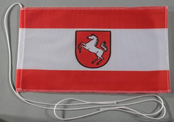 Tischflagge Westfalen 25x15 cm optional mit Holz- oder Chromständer Tischfahne Tischfähnchen