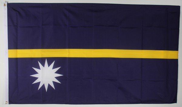 Flagge Fahne : Nauru Nationalflagge Nationalfahne