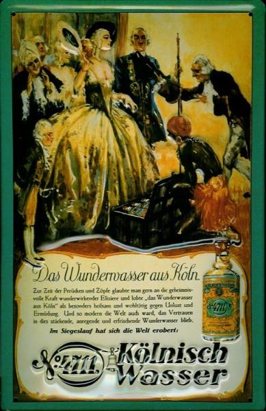 Blechschild 4711 Wunderwasser Adel Hofdame Diener kölnisch Wasser Parfum Schild Werbeschild Nostalgi