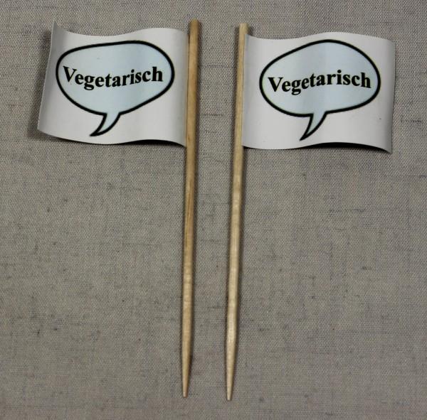 Party-Picker Flagge Vegetarisch Papierfähnchen in Spitzenqualität 50 Stück Beutel