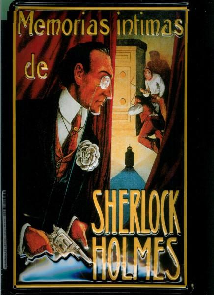 Blechschild Sherlock Holmes Memorias Intimas Filmplakat Werbeschild Schild Nostalgieschild