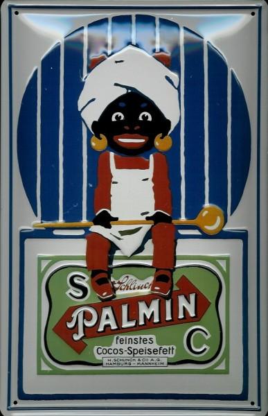 Blechschild Palmin Cocos feinstes Speisefett Mohr Kokosfett Schild