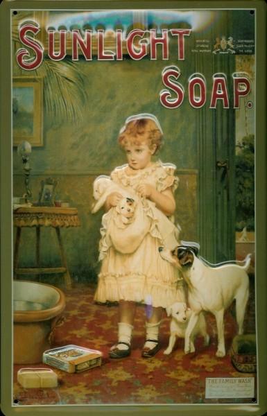 Blechschild Sunlight Soap (1) Sunlicht Seife Schild retro Werbeschild Nostalgieschild