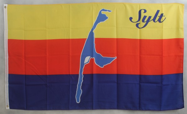 Flagge Fahne Sylt Nordsee Inselflagge