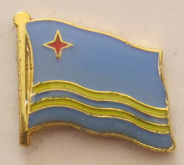 Aruba Pin Anstecker Flagge Fahne Nationalflagge