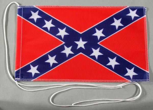 Tischflagge USA Südstaaten Confederate 25x15 cm optional mit Holz- oder Chromständer Tischfahne Tisc