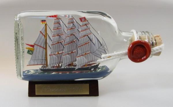 Passat Buddelschiff Flachmann 0,1 Liter ca. 14x7 cm Buddelschiff Flaschenschiff