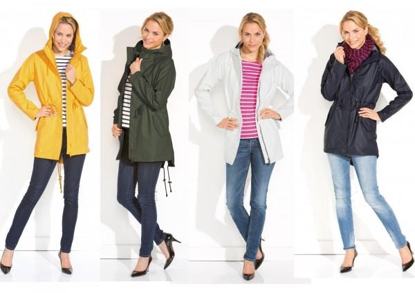 Damen Regenmantel gelb, weiß, blau oder grün Regenjacke von Modas
