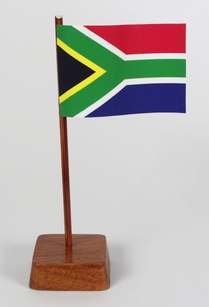 Mini Tischflagge Südafrika Höhe 13 cm Tischfähnchen