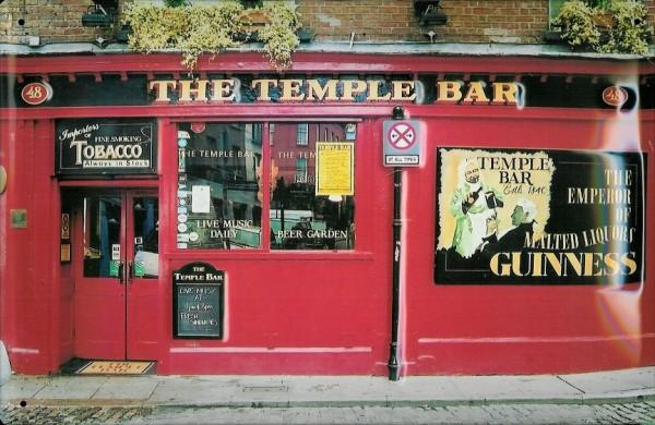 Blechschild Guinness Bier The Temple Bar retro Kneipenschild Schild