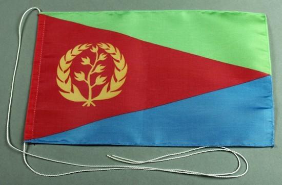 Tischflagge Eritrea 25x15 cm optional mit Holz- oder Chromständer Tischfahne Tischfähnchen