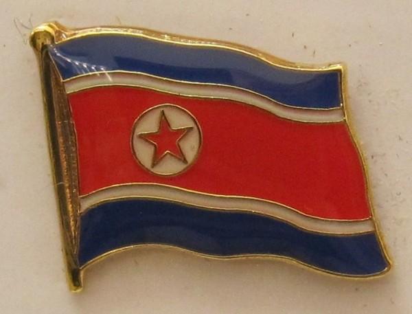 Nord Korea Nordkorea Pin Anstecker Flagge Fahne Nationalflagge
