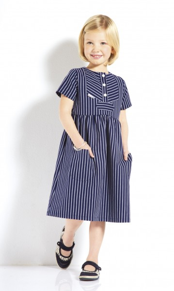 Kinder Fischerkleid breitgestreift Finkenwerder Stil Kinderkleidung Kinderkleid