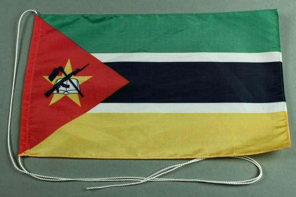 Tischflagge Mosambik 25x15 cm optional mit Holz- oder Chromständer Tischfahne Tischfähnchen