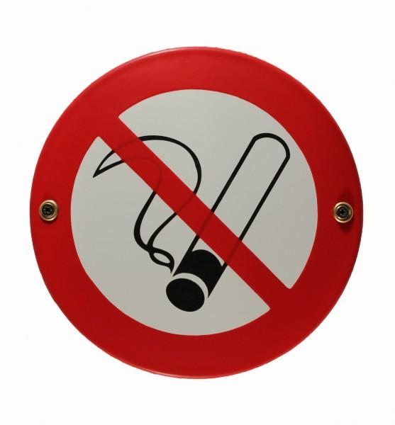 Hinweis-Schild Rauchen verboten Rauchverbot Emaille Warnschild