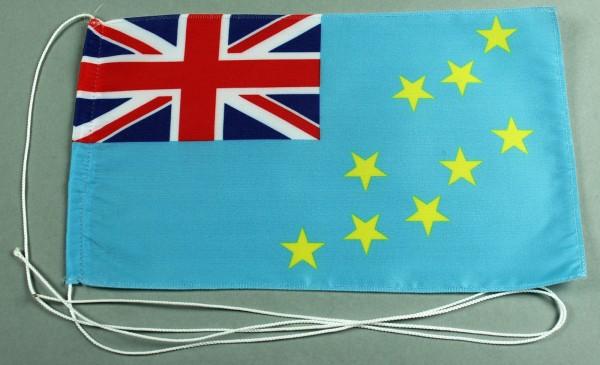 Tischflagge Tuvalu 25x15 cm optional mit Holz- oder Chromständer Tischfahne Tischfähnchen