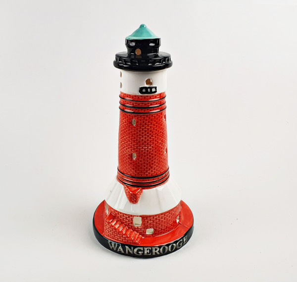 Leuchtturm Modell Wangerooge 19,5cm mit Teelichthalter Keramik Leuchtturmmodell