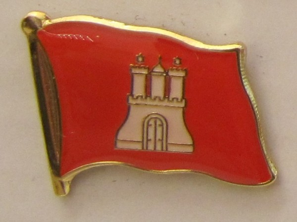 Pin Anstecker Flagge Fahne Hamburg Stadtflagge Flaggenpin Button Badge Flaggen Clip Anstecknadel