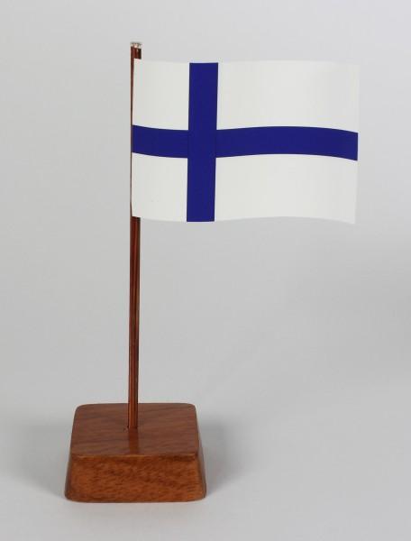 Mini Tischflagge Finnland Höhe 13 cm Tischfähnchen