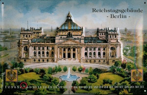 Blechschild Nostalgieschild Reichstag Berlin Magnet Kalender