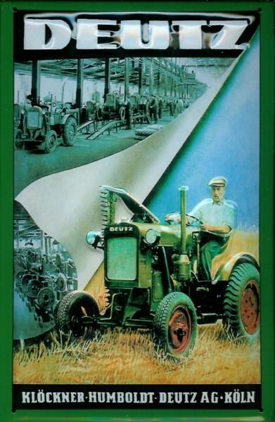 Blechschild Deutz Schlepper Trecker Traktor Schild Nostalgieschild